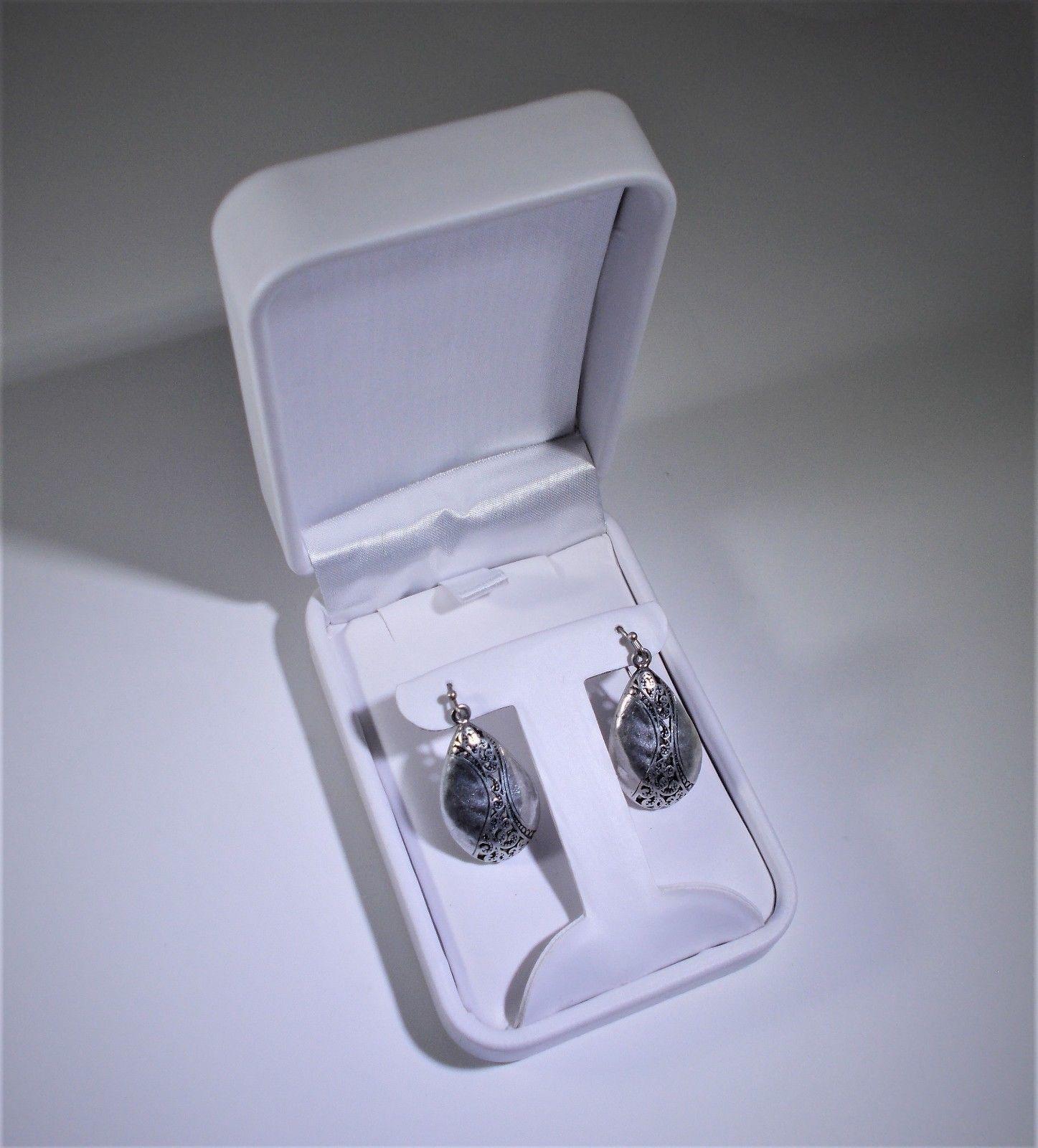 White Leatherette Jewelry Box W T Insert 4 X 2 3 1 Full Case 144pcs
